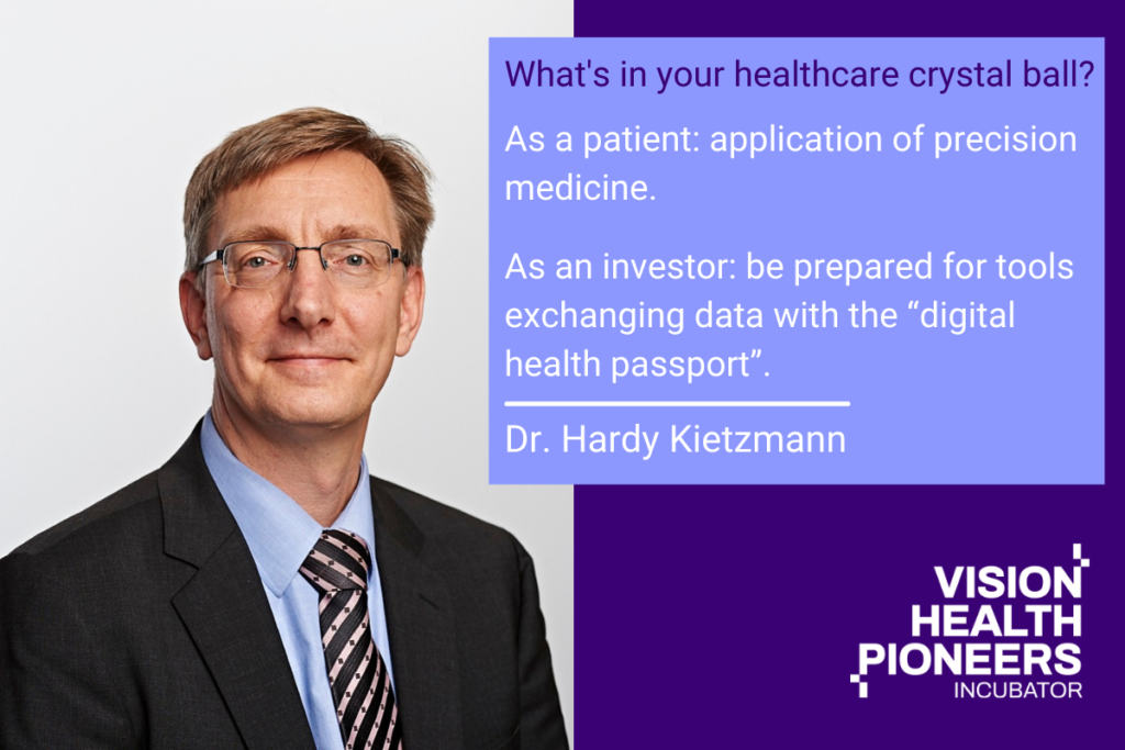 Dr. Hardy Kietzmann, Consultant in the area of digital therapeutics, focus Germany: DiGA