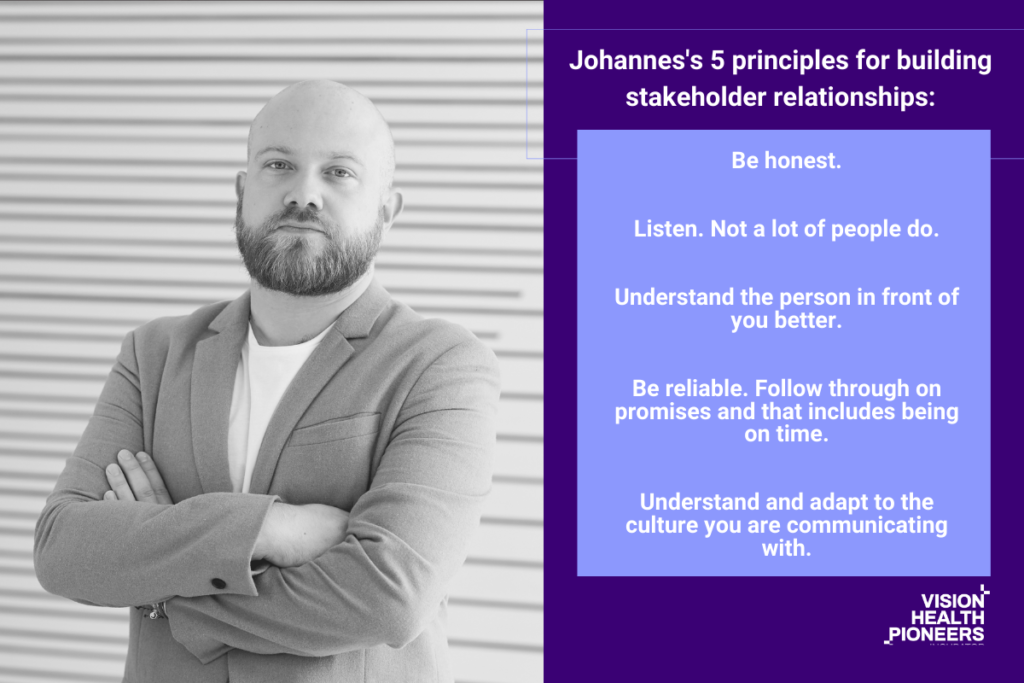 Johannes Steger: 5 principles for building and maintaining stakeholder relationships