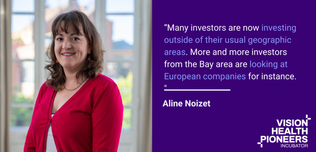 """Aline Noizet, Founder of Digital Health Connector shares a quote on startup investment in Berlin healthcare startups is like now. """"""""Many investors are now investing outside of their usual geographic areas. More and more investors from the Bay area are looking at European companies for instance. This is great news for entrepreneurs."""""""