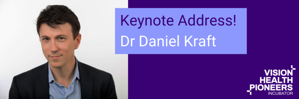 Dr Daniel Kraft M.D., leader in the future of health, medicine and technology,