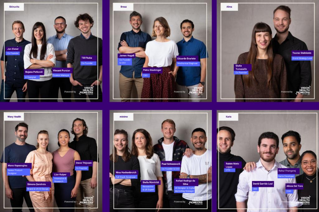 Berlin healthcare startups in Vision Health Pioneers Incubator cohort 2