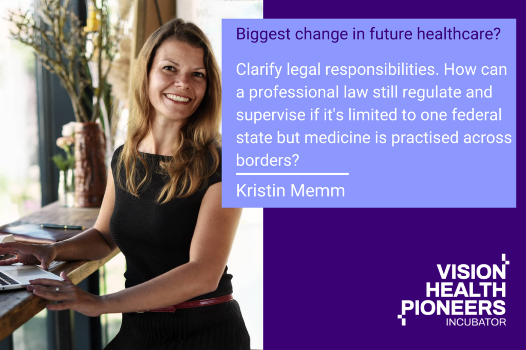 what does into the future mean for KRISTIN MEMM, GERMAN ATTORNEY AT LAW